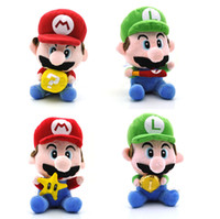 Wholesale New Super Mario Bros Mario amp Luigi With Star Money Baseball bat Bricks Plush D
