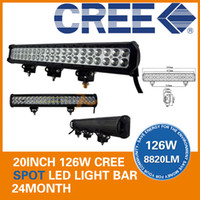 Wholesale 20 quot W USA CREE LED Work Light Bar SUV ATV WD x4 Spot Flood Combo Beam V lm IP67 Off Road JEEP High Power Super Bright
