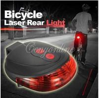 bike light - Hot Selling Waterproof LED Laser Bike Bicycle Laser Beam Flash Safety Rear Tail Light Lamp Outdoor Bike Lights Cycling