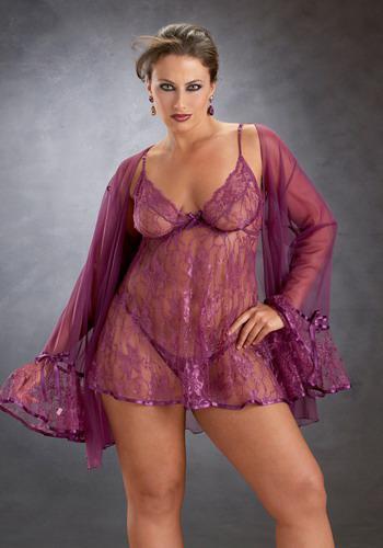 2017 Sexy Sheer Black Purple Lace Cloak Pajamas Thong Set ...
