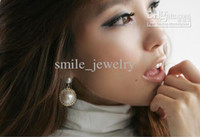 Wholesale White pearl olivet vintage redio mix earrings cheap price nice design women ear stud round style