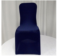 Wholesale spandex chair cover banquet chair cover chair covers wholesales dark blue color