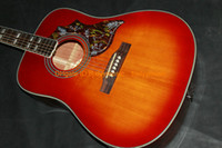 Right-handed best cherry wood - Custom guitars Cherry Burst Acoustic Guitar Best guitars HOT