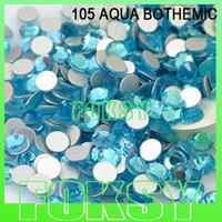 aqua beads nail art - 1440pcs SS4 aqua bohemica color non hotfix flat back Rhinestones perfect for nail art