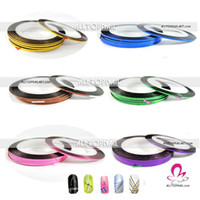 Wholesale Nail Art Striping Tape Colours Mixed Self adhesive Nail Art Metallic Yarn Decorat