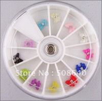 beauty magazine - 3D Nail Art Sticker Acrylic Bow Tie Decoration Rhinestone For Nails Beauty Desgin colors box