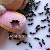 bead storage bags - RC bag Cute Black Mustache Decoration Resin Decoration Nail Art Decorations