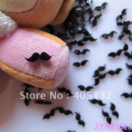 Wholesale RC bag Cute Black Mustache Decoration Resin Decoration Nail Art Decorations