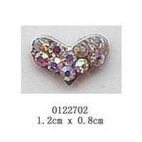 big box mobile storage - free ship pieces pack D big love heart Alloy AB color rhinestone Nail Art iphone mobile Glitter