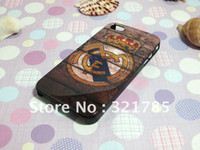Wholesale Retro Real Madrid Football Club Hard Case Cover For iPhone4s Phone protective shell