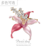 Wholesale 29 quality brooch female fashion sparkling crystal flower brooch corsage silk scarf buckle needle