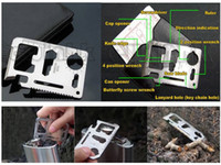 Pocket, Multi Tools   11 in 1 Multi Credit Card Survival Knife Camping Tool Stainless Steel Free Shipping