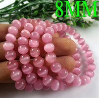 Wholesale Natural Opal Gemstone Beaded bracelet Hand crystal pink for lucky mm kelly MYS041230