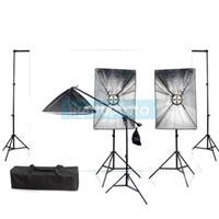 Wholesale Photo Studio Complete Light Kit with Backdrop amp w bulbs amp w bulb PSK9A