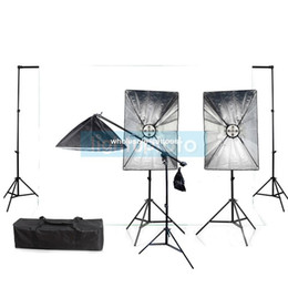 Wholesale Photo Studio Complete Light Kit with Backdrop amp w bulbs amp w bulb PSK9A