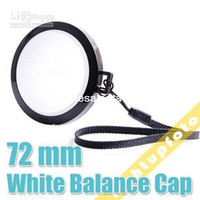 Wholesale 72mm White Balance Lens Cap with WB Filter Mount PCL3