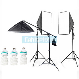 Wholesale Photo Studio Continuous Light Kit with softbox amp Boom Arm Stand PSK5E