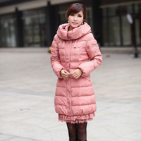 Wholesale 2012 NEW WOMENS WHITE FEATHER lace down Korean thickened slim authentic duck Winter coat Women Coat