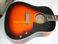 acoustic guitar sunburst - Best High Quality Newest Sunburst Classic J160 Acoustic Guitar OEM