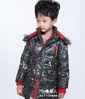 Wholesale fashion boys leather jackets kids feather down winter coats children s winter wear