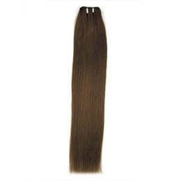 Wholesale HOT SELL Medium Brown Remy Human Hair Sewed weft in Extensions Straight width cm g