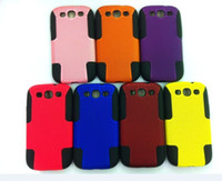 Wholesale Mesh Hybrid Silicone plastic Combo case cover for Samsung Galaxy s3 lll I9300