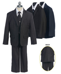 Wholesale Hot Sale Handsome Tow Button Stripe Boy s Suit Outfit attire Special Occasion Dresses BS205