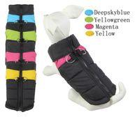 Wholesale 2017 Small Dog Winter Jacket Puppy Stripes Ski Vest Pet Winter Coat Clothing color