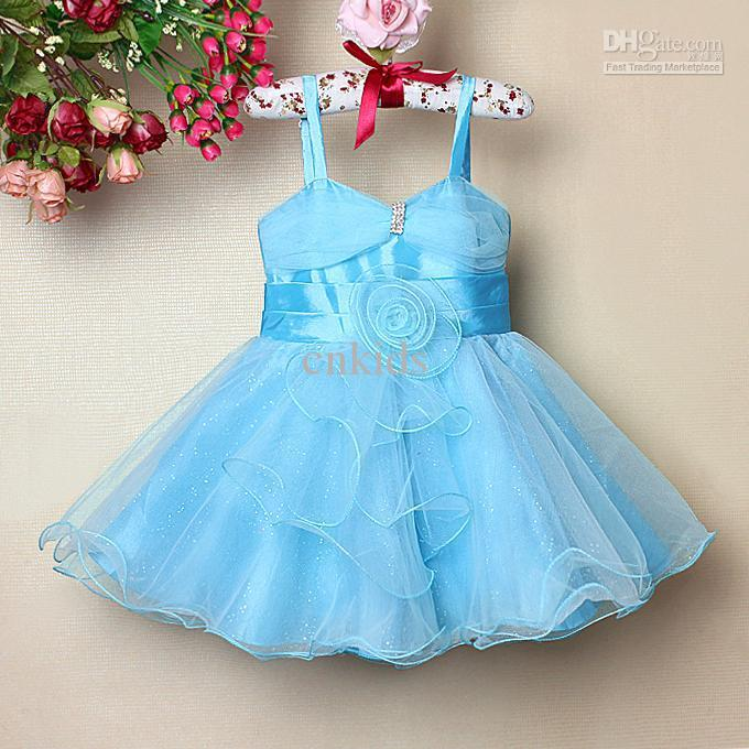 Baby Girl Party Dress Blue 68