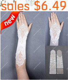 Wholesale Sexy Fingerless Lace Bridal Gloves Beautiful Wedding Gloves In Stock hr Dispatch