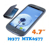 Wholesale Mtk6577 i900 i9377 quot Capacitive Screen Android GPS Wifi Bluetooth Uncocked G S3 Cell phone