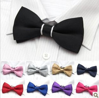 Wholesale NEW Mens Imitation Silk Tuxedo Adjustable Neck Bowtie Wedding groom Bow Tie