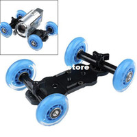 Wholesale High Quality Table Top Compact Dolly Kit Skater Wheel Truck Stabilizer for Dslr Camera D2 Video