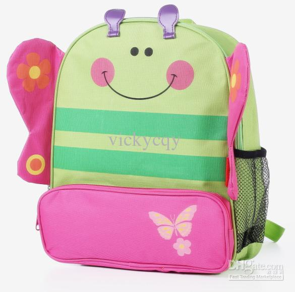 ... school bag Lovely CartoonBackpack Children's Animal Canvas Bags kids