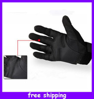 Wholesale Hot Sale Full finger Military Tactical Airsoft Adjustable Gloves Protective Black for Christmas