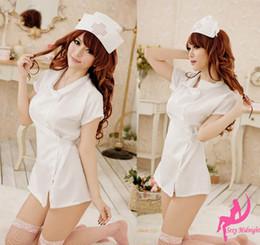 Wholesale Sexy Costumes nurse role play clothes concert attire nurse uniform hat G string