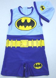 Wholesale newest y years Children Swimming hat boy One Pieces swimwear batman kid swims