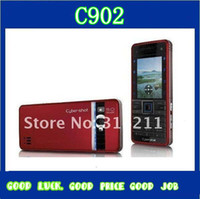 Wholesale Unlocked Original Cell Mobile Phone C902 Unlocked Quan band G Bluetooth GPRS MP dropshipping FREE