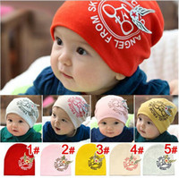 Wholesale children knitted hats baby bicycle star fly the kids kit lens cap beret hat colors