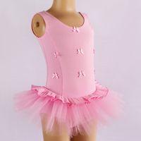 Wholesale Free freight Children s short sleeved ballet skirt tutu dance dress dancing dress baby skirt Stage d