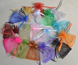 500PCS Mixed Rectangle Organza Wedding Gift Pouches Bags 12x9cm