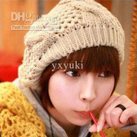 Wholesale Hot selling winter girl wool berets cotton three colors