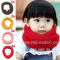 Wholesale kids Scarf boys girls candy solid color double children scarf baby collars color