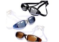 Leisure Goggles Adult One size New Swimming Goggles Anti-Fog Waterproof Eyewear Adjusted Bandage UV400 Coating Film Lens 5pcs Lot
