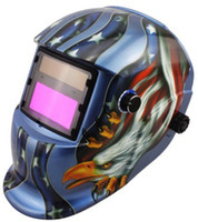 Wholesale Big view area Li Battery Solar auto darkening welding helmet weld mask for MIG MAG TIG MMA machine