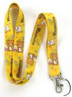 Wholesale New Yellow Cute Rilakkuma mobile Phone card lanyard neck straps Gifts DHL