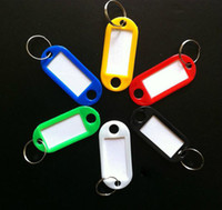Wholesale of Plastic Key ID Labels Tags with Key Ring Split Rings