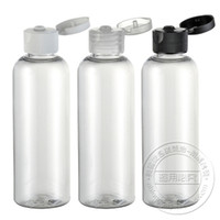Wholesale 100pcs ml Plastic Pet Flip Cap Bottle Cosmetic Packing Flip open Cover Bottles LW D B