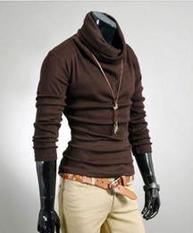 Wholesale Classic Render unlined upper garment man pure color with soft continous turtle neck leisure AK0010