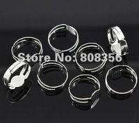Band Rings adjustable ring blank - 500pcs Silver Tone Adjustable Finger Ring Base Bases Ring Blanks Blsnk Ring Settings Setting mm Glue Flat Pad